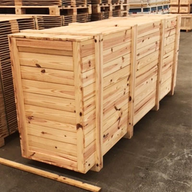 Caixa de Madeira Pinus Res.Terras de Vinhedo - Caixa de Pallet de Madeira