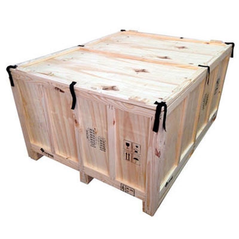 Embalagem Madeira para Exportação Jardim dos Ipês - Embalagem de Madeira Grande