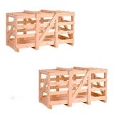 caixa de madeira vazada Rafard