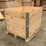 caixa de madeira pinus