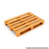 pallet fechado de madeira